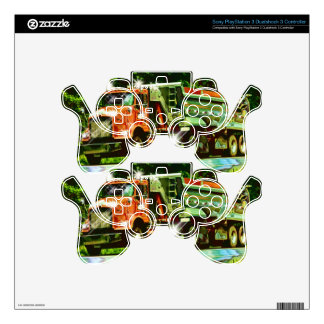 Cool TRUCK-LOVERS Transport Theme Skin Decal For PS3 Controller