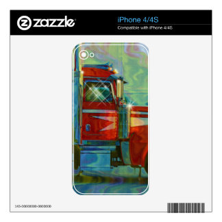 Cool TRUCK-LOVERS Transport Theme Skin Skin For The iPhone 4