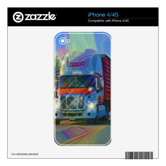 Cool TRUCK-LOVERS Transport Theme Skin Skins For The iPhone 4