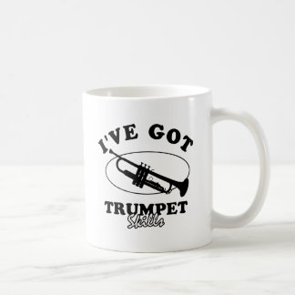 Cool trumpet musical instrument designs coffee mug