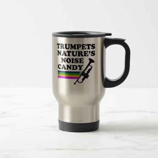Cool trumpet musical instrument designs travel mug