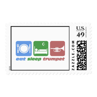 Cool trumpet player postage stamp