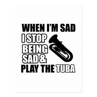 Cool Tuba designs Postcard