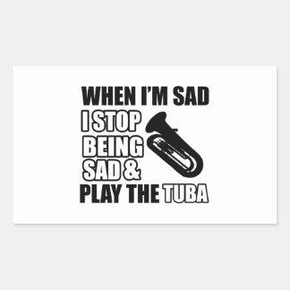 Cool Tuba designs Rectangular Sticker