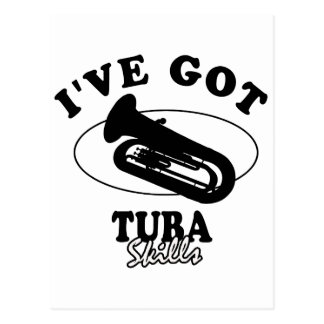Cool tuba musical instrument designs postcard
