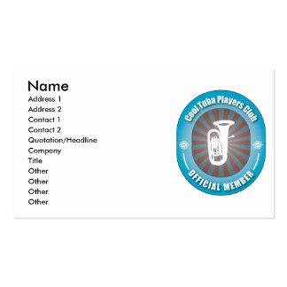 Cool Tuba Players Club Business Card