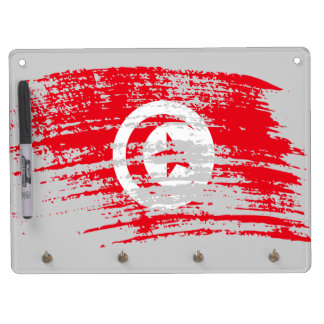 Cool Tunisian flag design Dry Erase Board With Keychain Holder