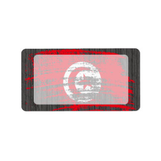 Cool Tunisian flag design Label
