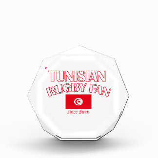 cool Tunisian rugby fan DESIGNS Acrylic Award