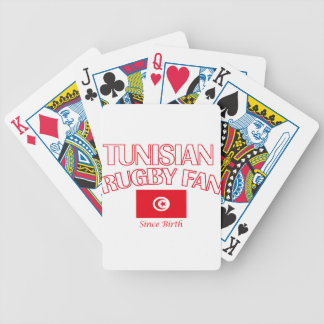 cool Tunisian rugby fan DESIGNS Bicycle Playing Cards