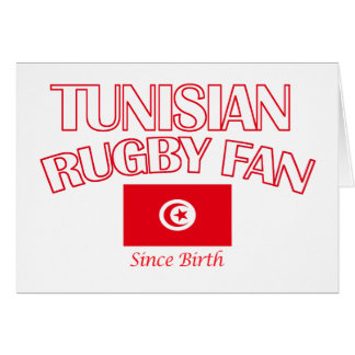 cool Tunisian rugby fan DESIGNS Card