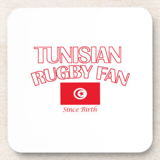 cool Tunisian rugby fan DESIGNS Coaster