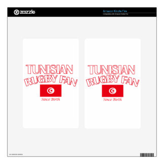 cool Tunisian rugby fan DESIGNS Decal For Kindle Fire