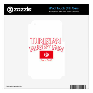cool Tunisian rugby fan DESIGNS iPod Touch 4G Skins