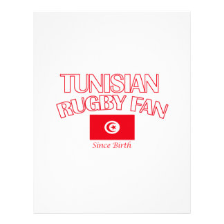 cool Tunisian rugby fan DESIGNS Letterhead