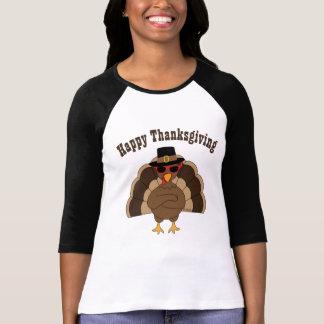Cool Turkey w sunglasses Happy Thanksgiving tshirt