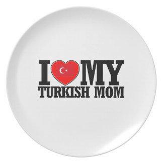 cool Turkish  mom designs Dinner Plate