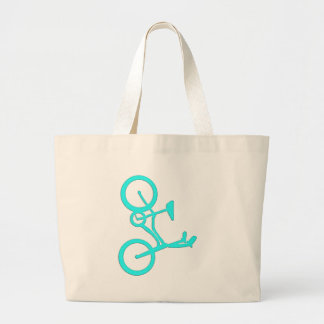 Cool Turquoise Bicycle Products Large Tote Bag