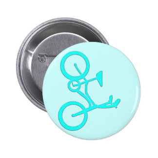 Cool Turquoise Bicycle Products Pinback Buttons