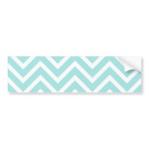 Cool Turquoise Chevron Pattern Bumper Sticker