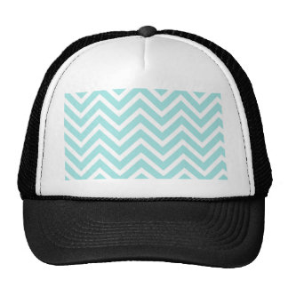 Cool Turquoise Chevron Pattern Trucker Hat