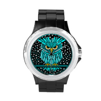 cool turquoise owl watches