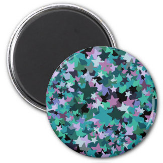 Cool Turquoise Star Pattern - Rock chick style Magnet