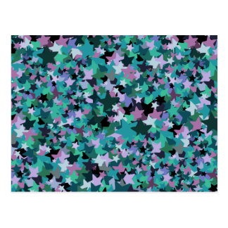 Cool Turquoise Star Pattern - Rock chick style Postcards