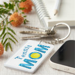 Cool Turquoise TENNIS MOM Tennis Keychains