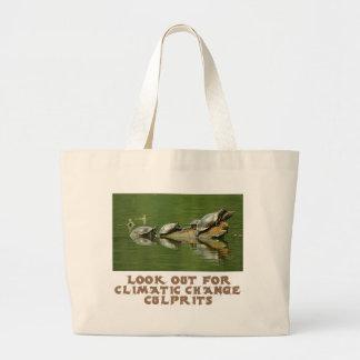 cool Turtle designs Large Tote Bag