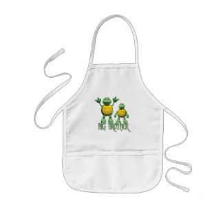 Cool Turtles Big Brother Kids' Apron