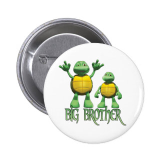 Cool Turtles Big Brother Pinback Button