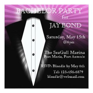 Cool Tuxedo Bachelor Party Cool Invitation