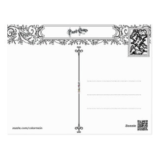 cool two sided adult coloring postcard gifts