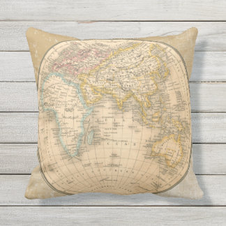 Cool Two Sided Antique Map Pillow from Scarebaby