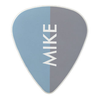 cool two tones blue guitar pick with name