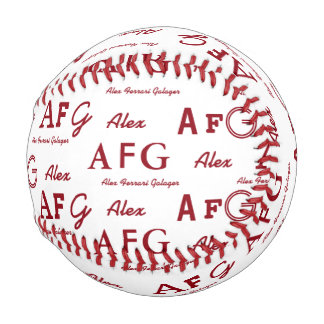 cool typography pattern of names personalized baseball