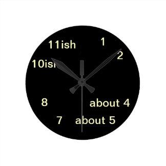 Cool Uber Geek Hipster Black One-ish Clock 2