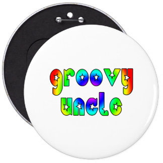 Cool Uncles Birthdays Christmas Groovy Uncle Pinback Button