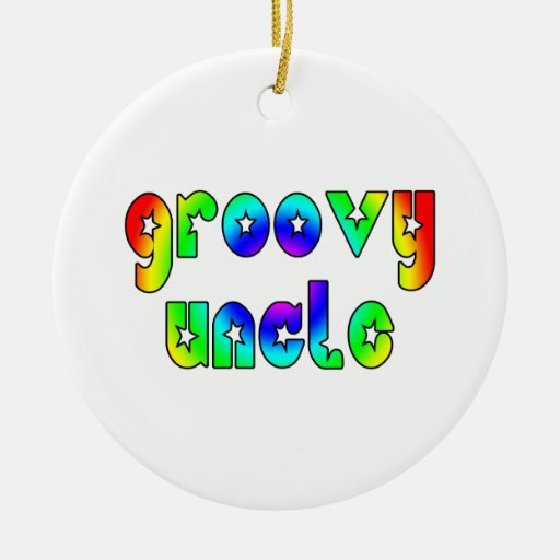 Cool Uncles Birthdays & Christmas : Groovy Uncle Double-Sided Ceramic Round Christmas Ornament
