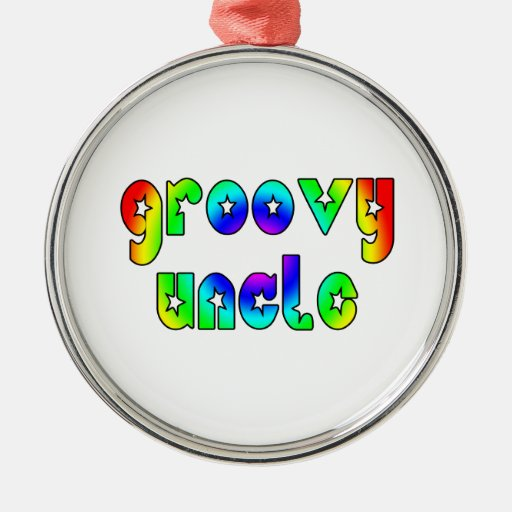 Cool Uncles Birthdays & Christmas : Groovy Uncle Round Metal Christmas Ornament