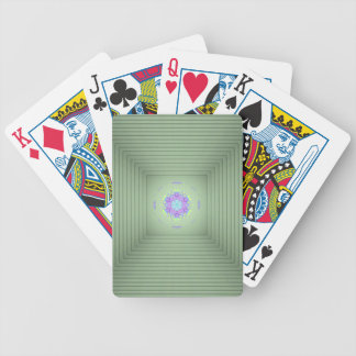 Cool Uncommon 3D Green Lavender Optical Illusion Bicycle Playing Cards