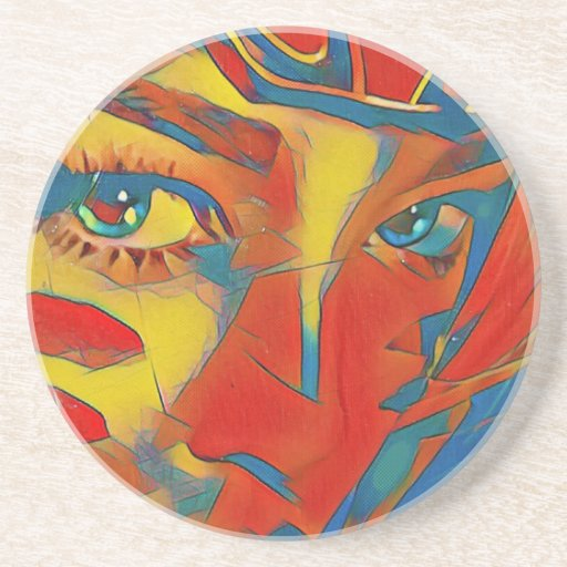 Cool Uncommon Contemporary Artistic Eyes Drink Coaster