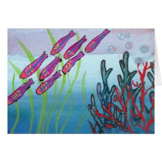 Cool undersea life notecard