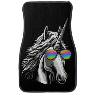 cool car floor mats. brilliant car cool unicorn with rainbow sunglass car mat for car floor mats