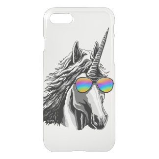 Cool unicorn with rainbow sunglass iPhone 8/7 case