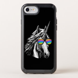 Cool unicorn with rainbow sunglass speck iPhone case