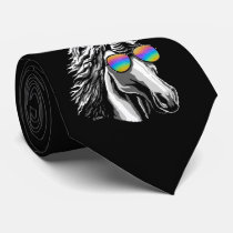 Cool unicorn with rainbow sunglasses tie