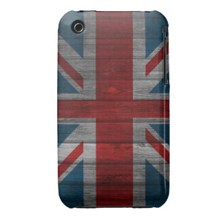 Cool union jack flag gadrk grunge wood effects iPhone 3 Case-Mate cases