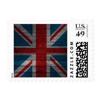 Cool union jack flag gadrk grunge wood effects stamps